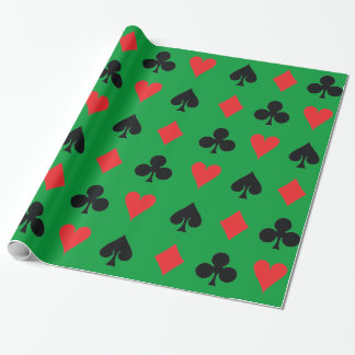 Poker Card Suits Wrapping Paper