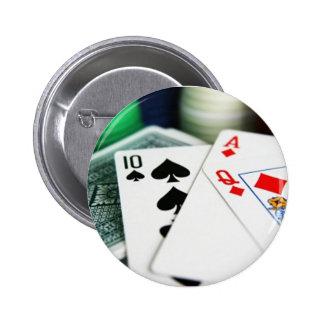 Poker Cards 6 Cm Round Badge