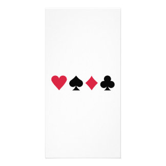 Poker cards customized photo card