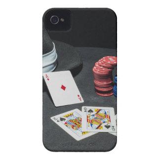 Poker cards gangster hat iPhone 4 case