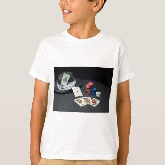 Poker cards gangster hat T-Shirt