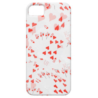 Poker Cards Hearts Straight Flush Pattern, iPhone 5 Cover