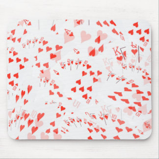 Poker Cards Hearts Straight Flush Pattern, Mouse Pad