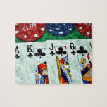 POKER CARDS JIGSAW PUZZLE