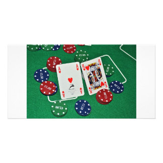 POKER CARDS PHOTOS PERSONALISED PHOTO CARD