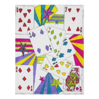 Poker cards poster