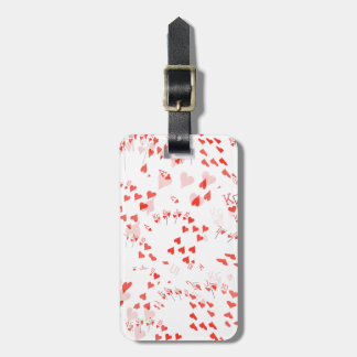Poker Cards Royal Hearts Flush Pattern, Luggage Tag