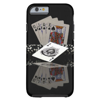 Poker cards with chips tough iPhone 6 case
