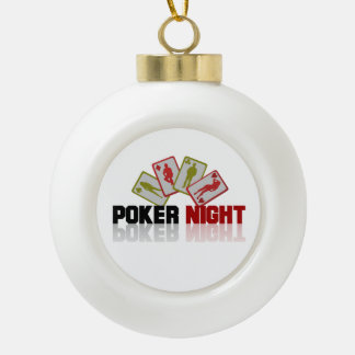 Poker Casino Ceramic Ball Decoration