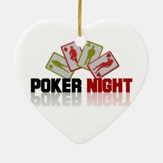 Poker Casino Ceramic Heart Decoration