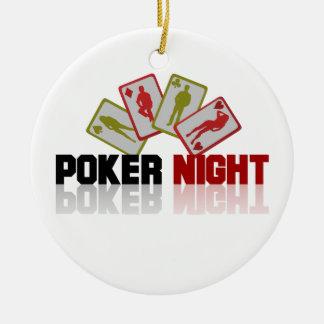 Poker Casino Ceramic Ornament