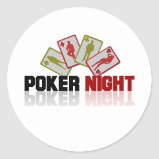 Poker Casino Classic Round Sticker