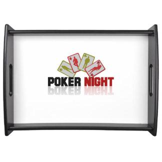 Poker Casino Serving Tray