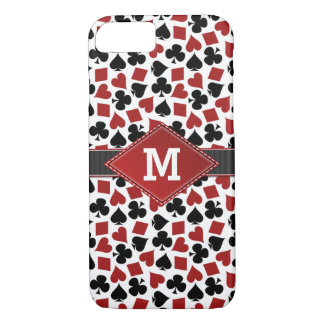 Poker Casino Suit Pattern Monogram iPhone 7 Case