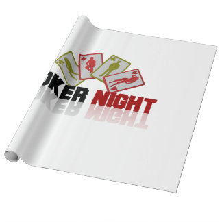 Poker Casino Wrapping Paper