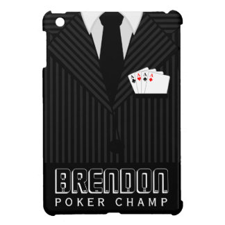 Poker Champ Casino Pinstripe Suit iPad Mini Cases iPad Mini Cover