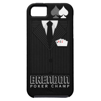 Poker Champ Pinstripe Suit Casino iPhone 5 5S Case