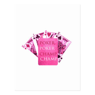 POKER Champion -  Art101 Collection Postcard