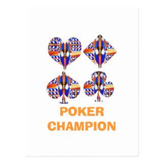POKER Champion : Giveaway Gifts Postcard