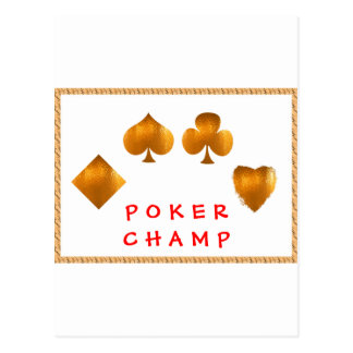 POKER Champion : Giveaway Gifts Postcard