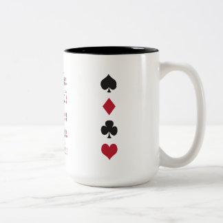 Poker Cheat Sheet Two-Tone Coffee Mug