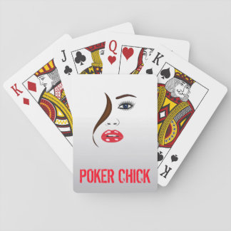 Poker Chick Face Lipstick Classic Playing Cards