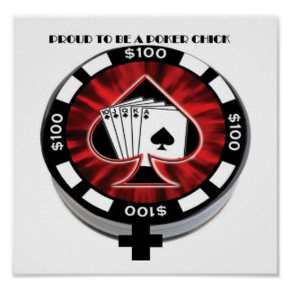 poker chick poster