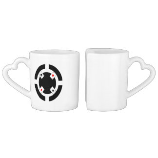 Poker Chip - Black Coffee Mug Set