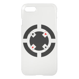 Poker Chip - Black iPhone 7 Case