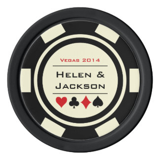 Poker Chip Black & White