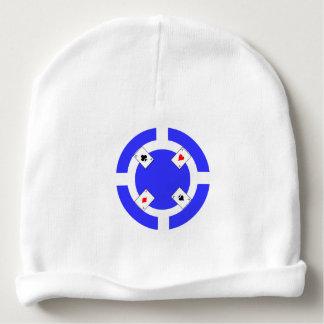 Poker Chip - Blue Baby Beanie