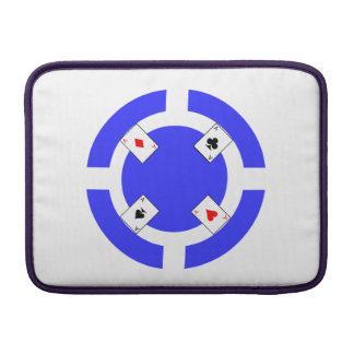 Poker Chip - Blue Sleeve For MacBook Air