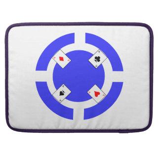 Poker Chip - Blue Sleeve For MacBooks