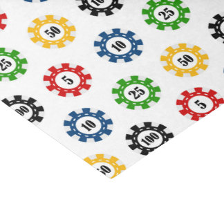 Poker chip Casino pattern party tissue paper