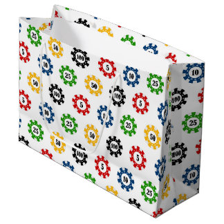 Poker Chip gambling casino pattern Party gift bag