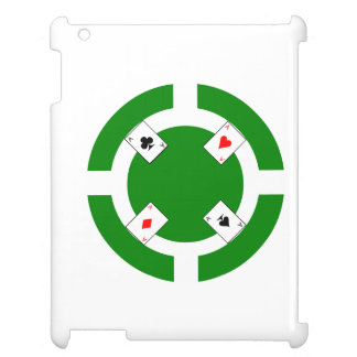 Poker Chip - Green iPad Covers
