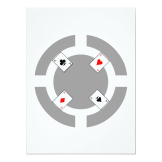 Poker Chip - Grey 17 Cm X 22 Cm Invitation Card