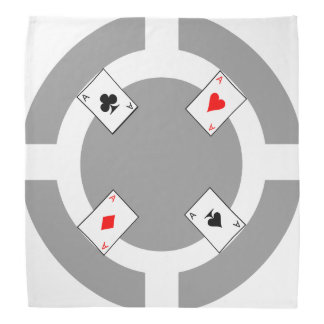 Poker Chip - Grey Bandana