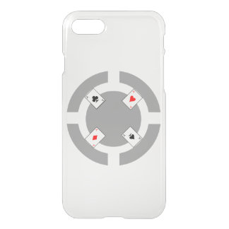Poker Chip - Grey iPhone 7 Case