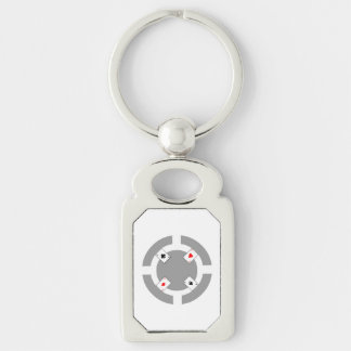 Poker Chip - Grey Key Ring