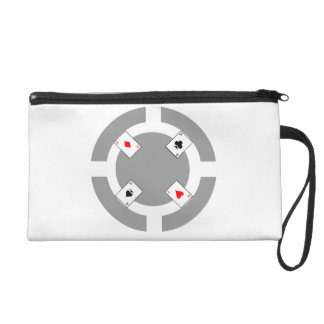 Poker Chip - Grey Wristlet