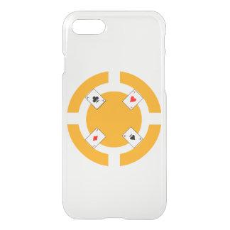 Poker Chip - Orange iPhone 7 Case