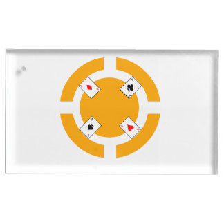 Poker Chip - Orange Table Card Holder