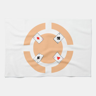 Poker Chip - Peach Tea Towel