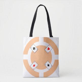 Poker Chip - Peach Tote Bag
