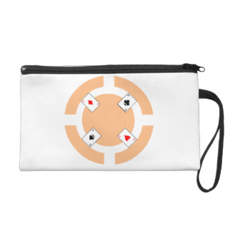 Poker Chip - Peach Wristlet