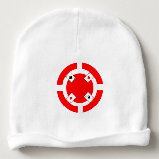 Poker Chip - Red Baby Beanie