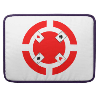 Poker Chip - Red MacBook Pro Sleeve