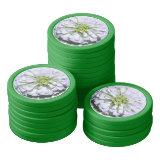 Poker Chip Set - Lemony White Zinnia