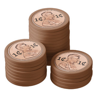 Poker Chip Set - Penny For Your Thoughts Or Bet